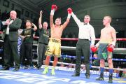 Mitchell Smith celebrates victory in his last fight: Action Images