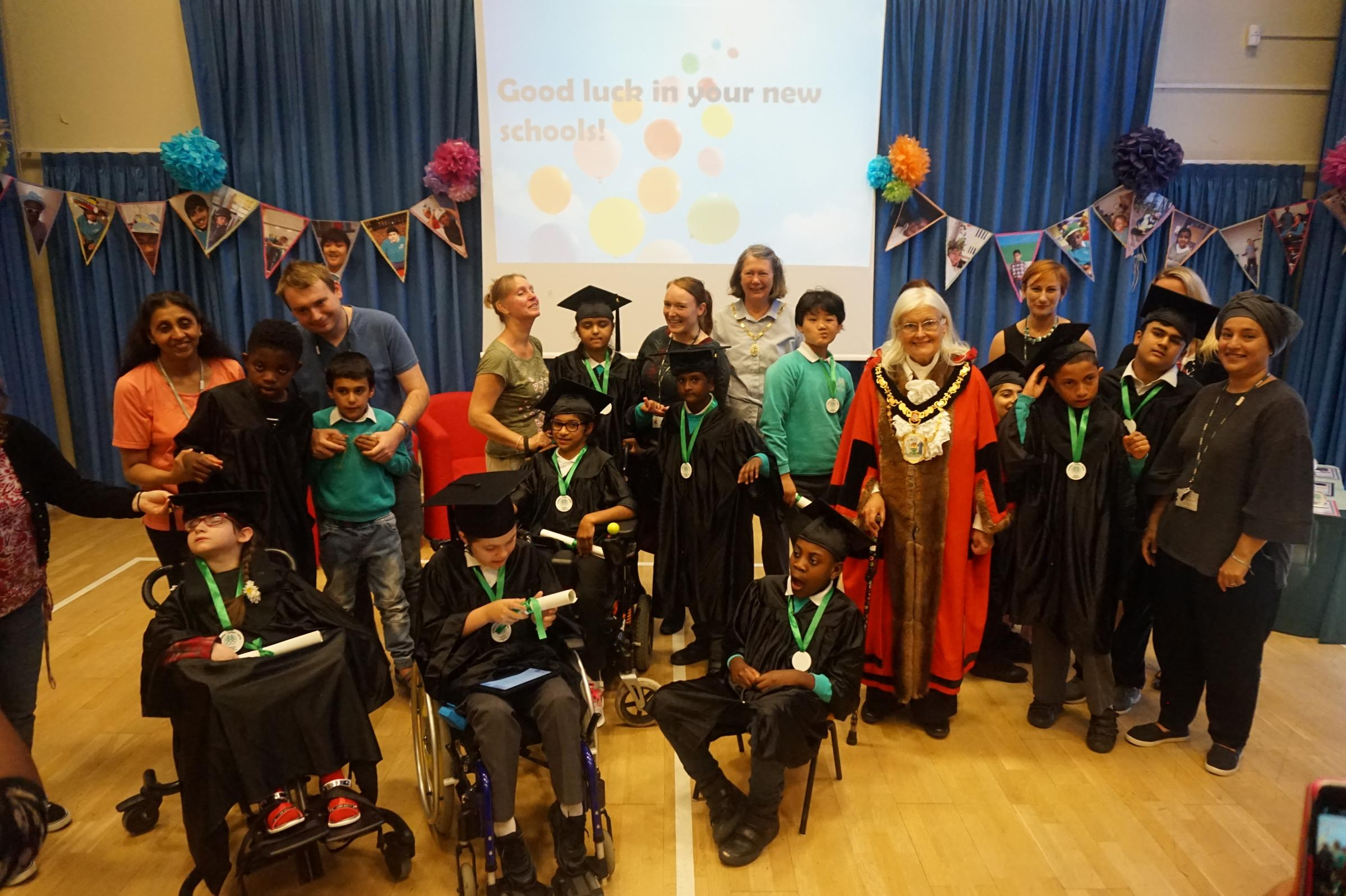 Special needs pupils from Woodlands School, Edgware graduate