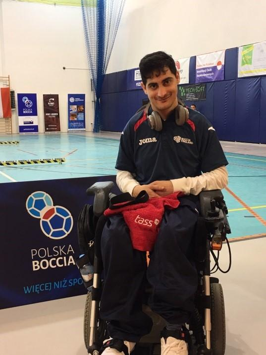 Reshad Saraj after winning boccia gold at the 2016 Poznan Open in Poland