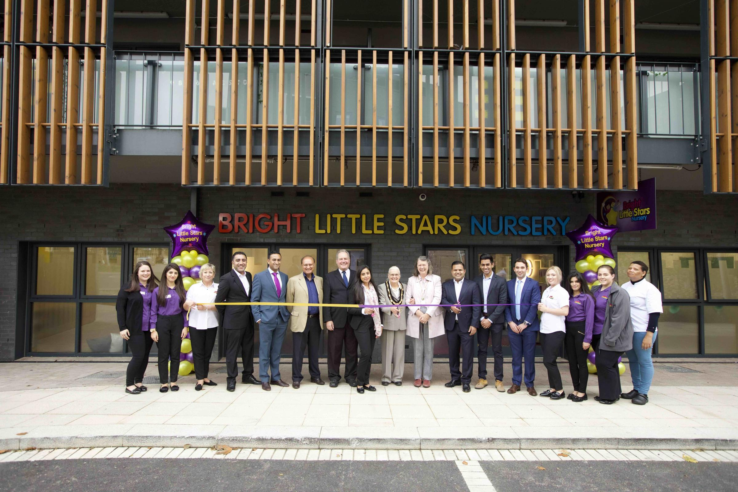 Guests at the Bright Little Stars Stanmore opening in Stanmore Place