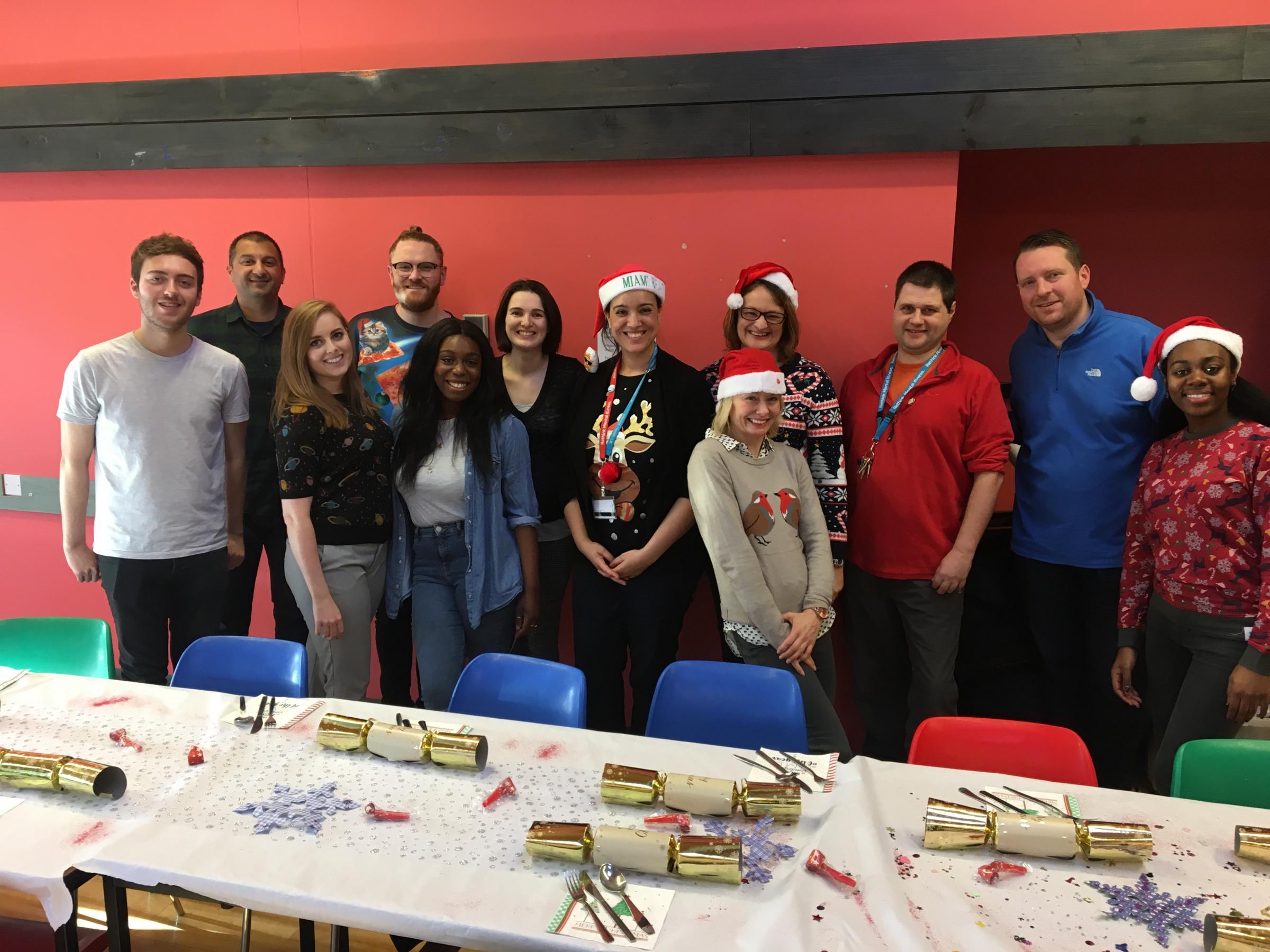 Pizza Hut Staff Provide Festive Cheer At Rethink Mental