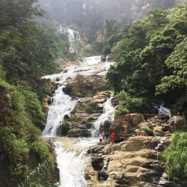 Ravana Falls can be seen on your way to Ella Planter's Bungalow