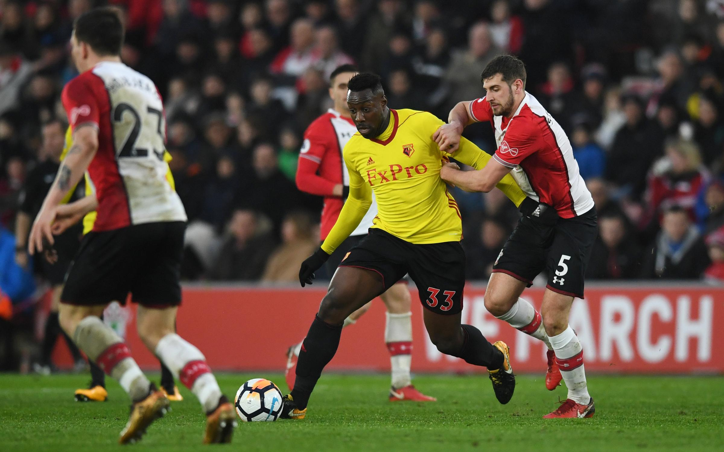 Stefano Okaka looked to leave Watford in January after falling out of favour. Picture: Action Images