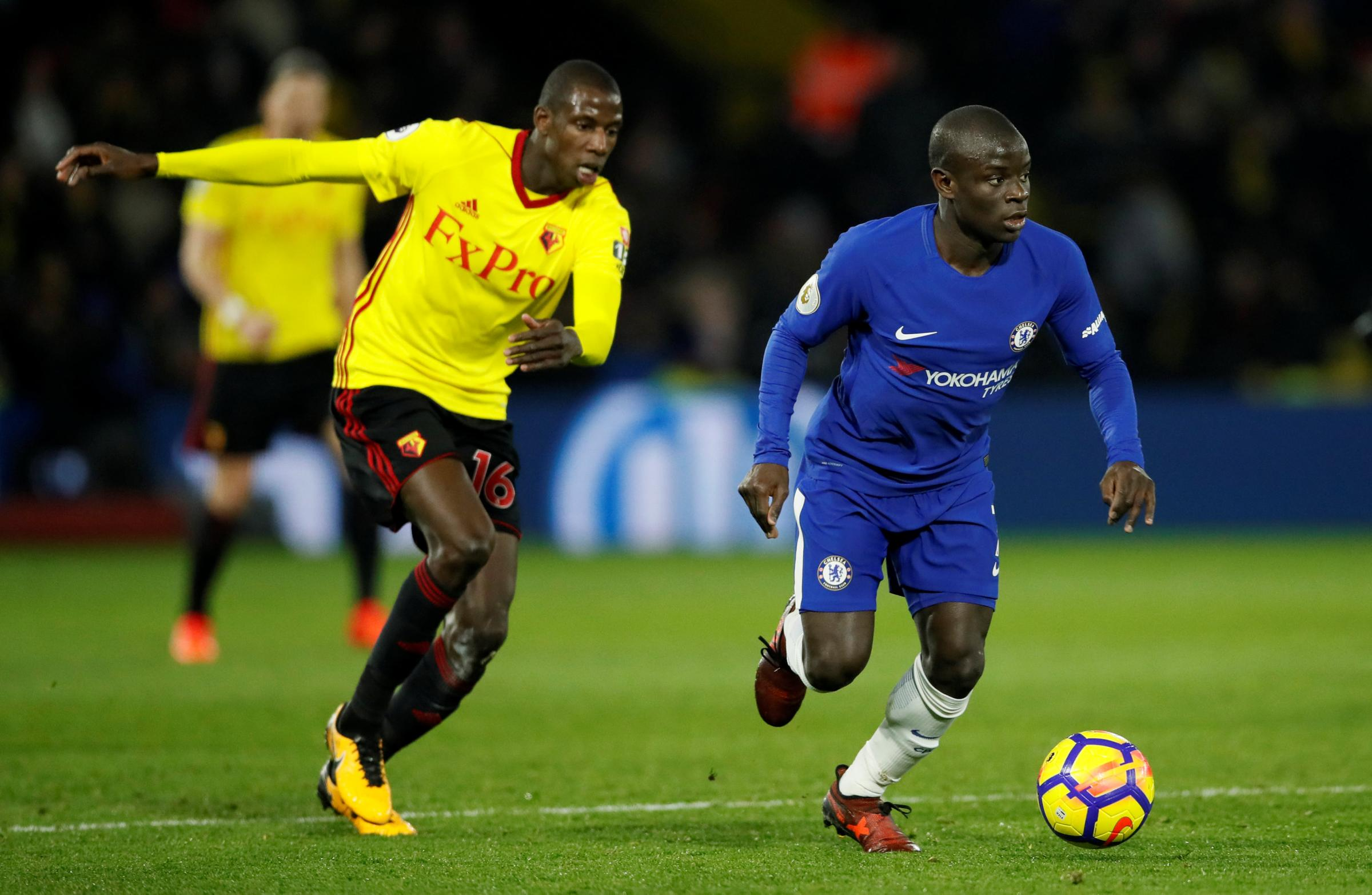 Abdoulaye Doucoure was on form as Watford beat Chelsea in Javi Gracia's first home game. Picture: Action Images