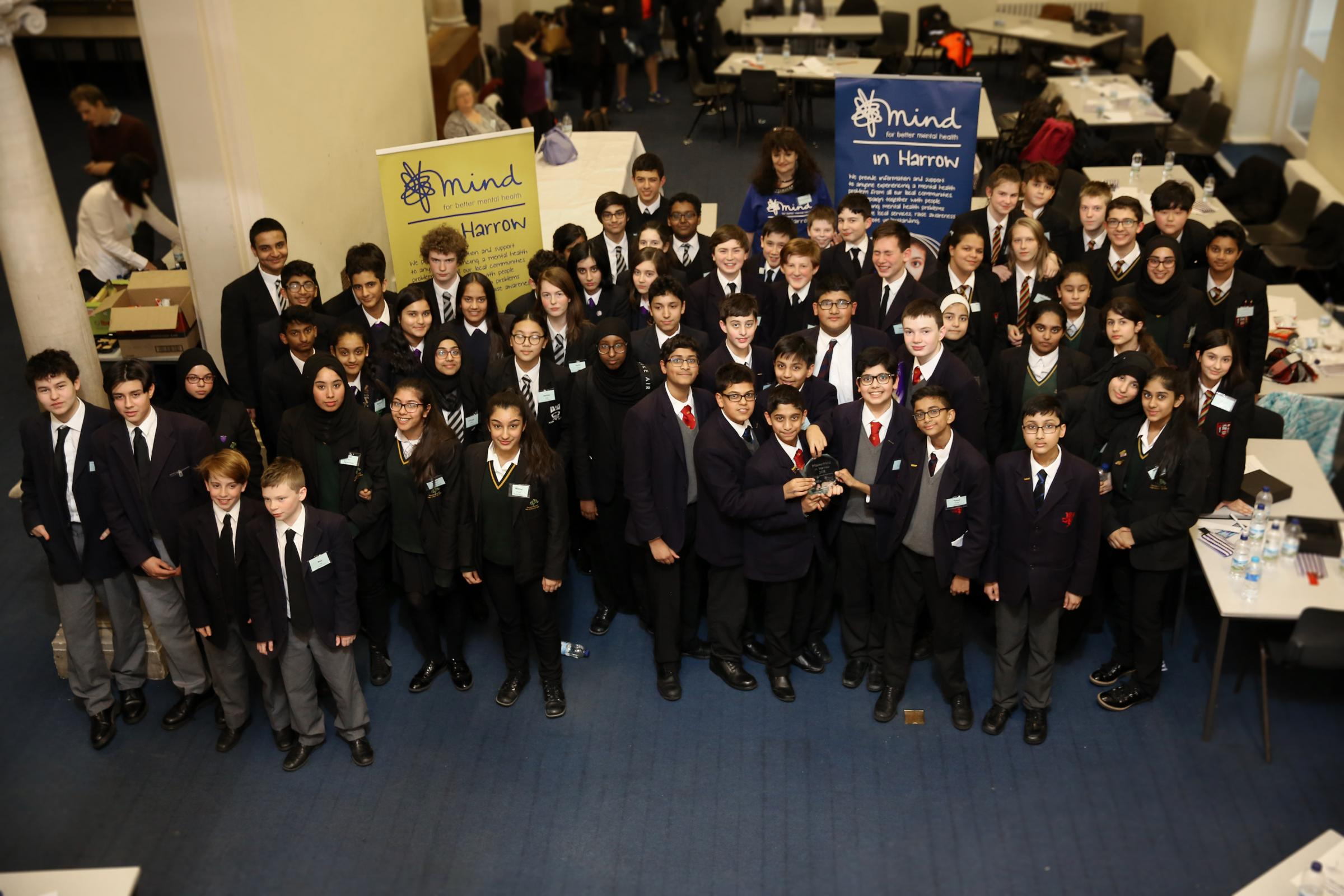 Pupils, staff and volunteers at MasterMind in Harrow 2018