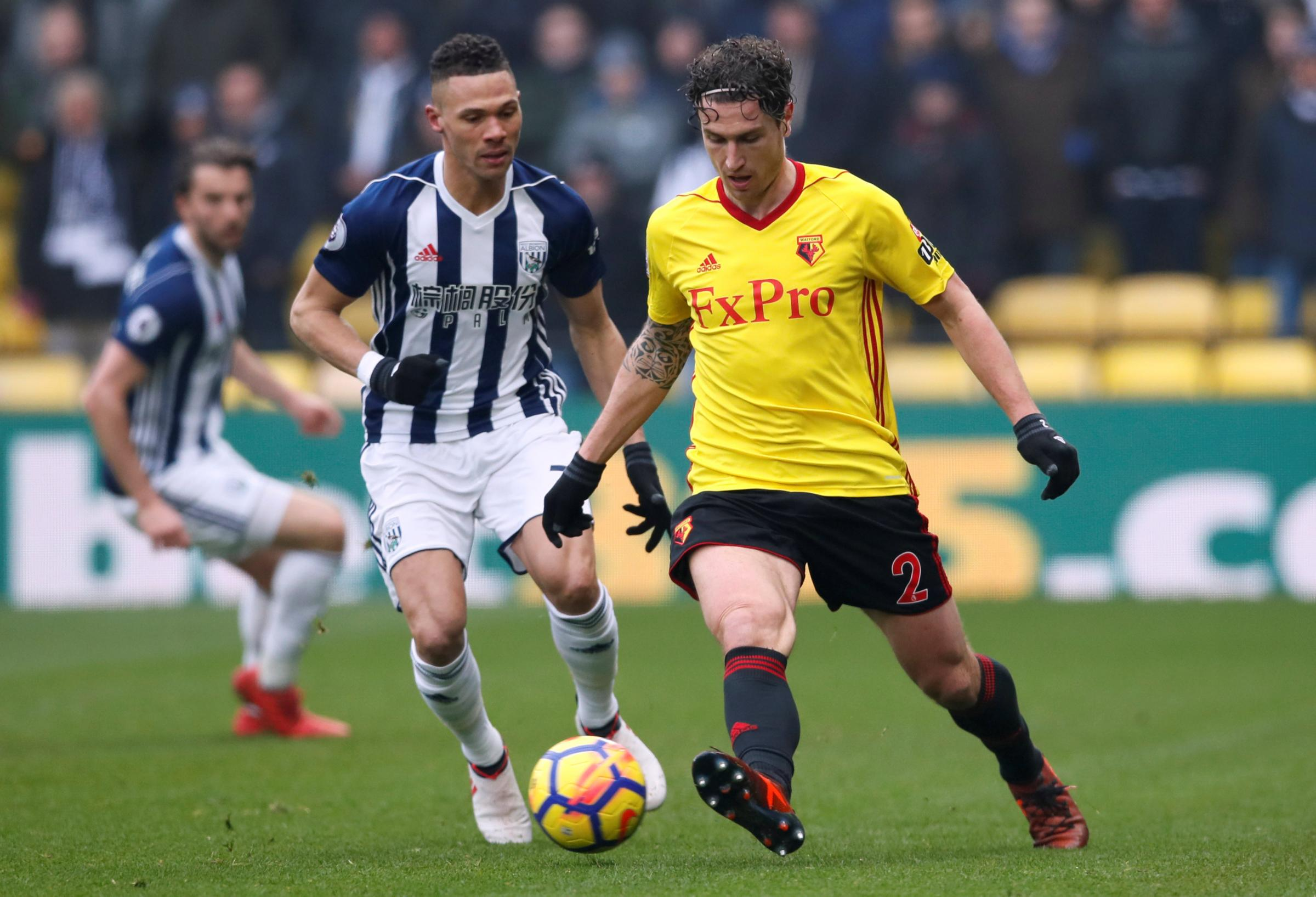 Daryl Janmaat believes Watford can begin to look up the table rather than over their shoulder. Picture: Action Images