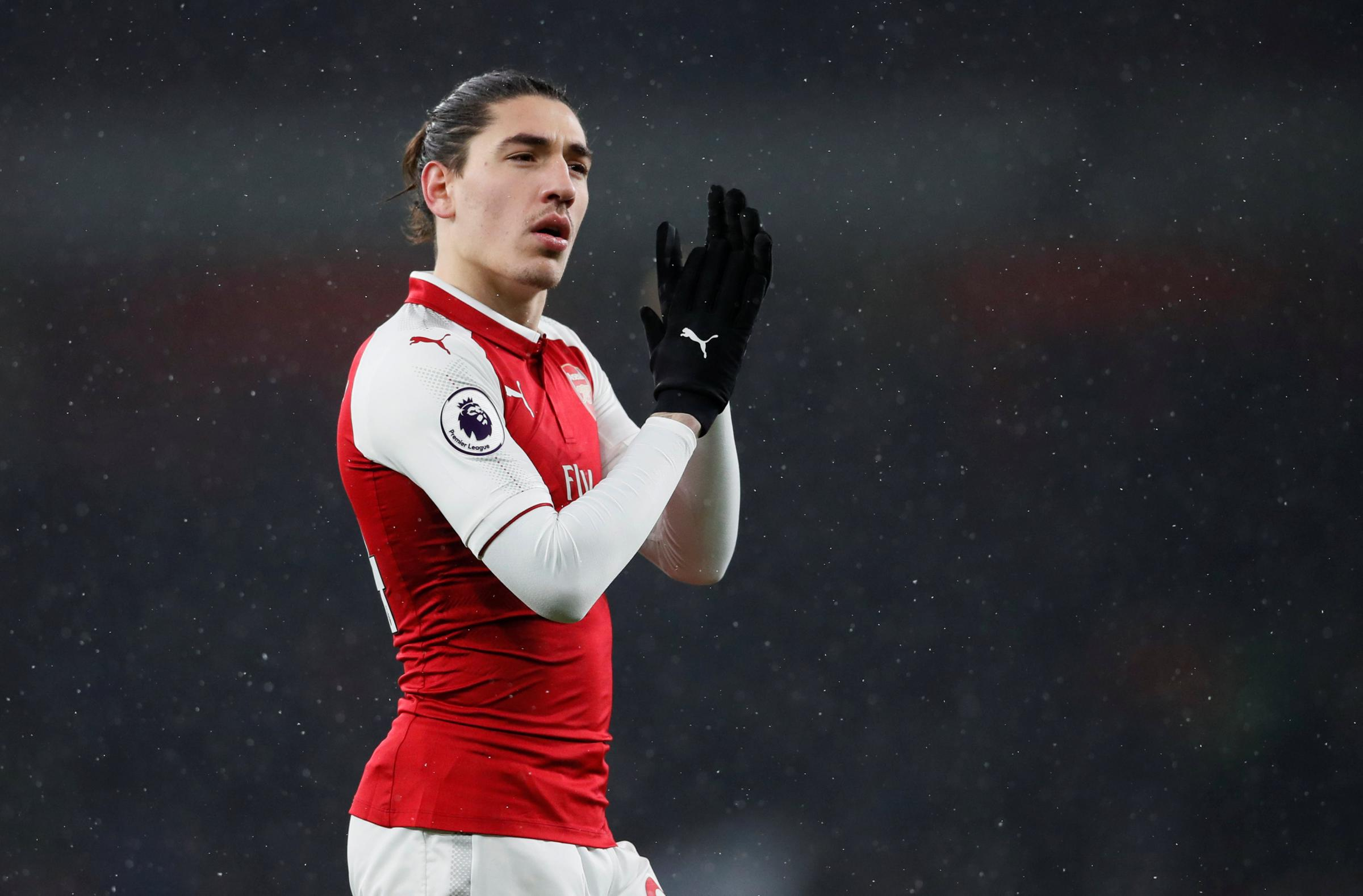 Hector Bellerin will miss Arsenal's visit to the San Siro tonight. Picture: Action Images