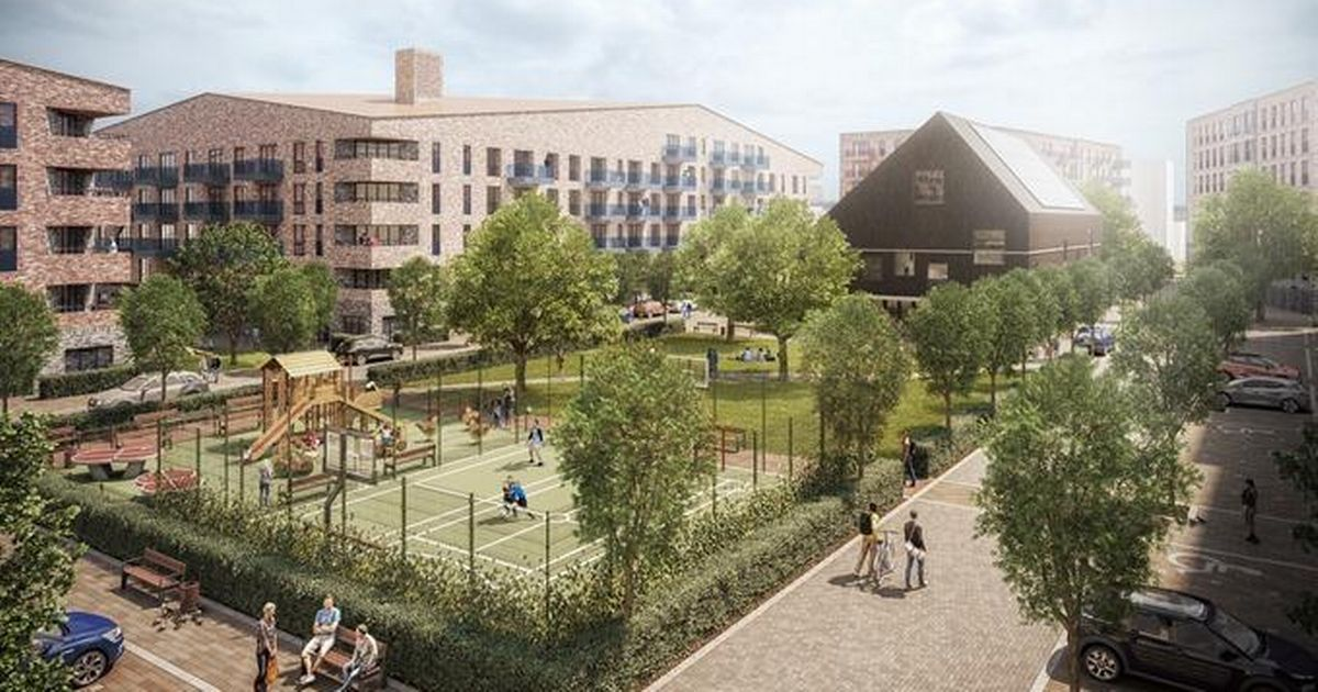 An artist's impression of Grange Farm Estate, which Harrow Council says will result in hundreds of new affordable homes