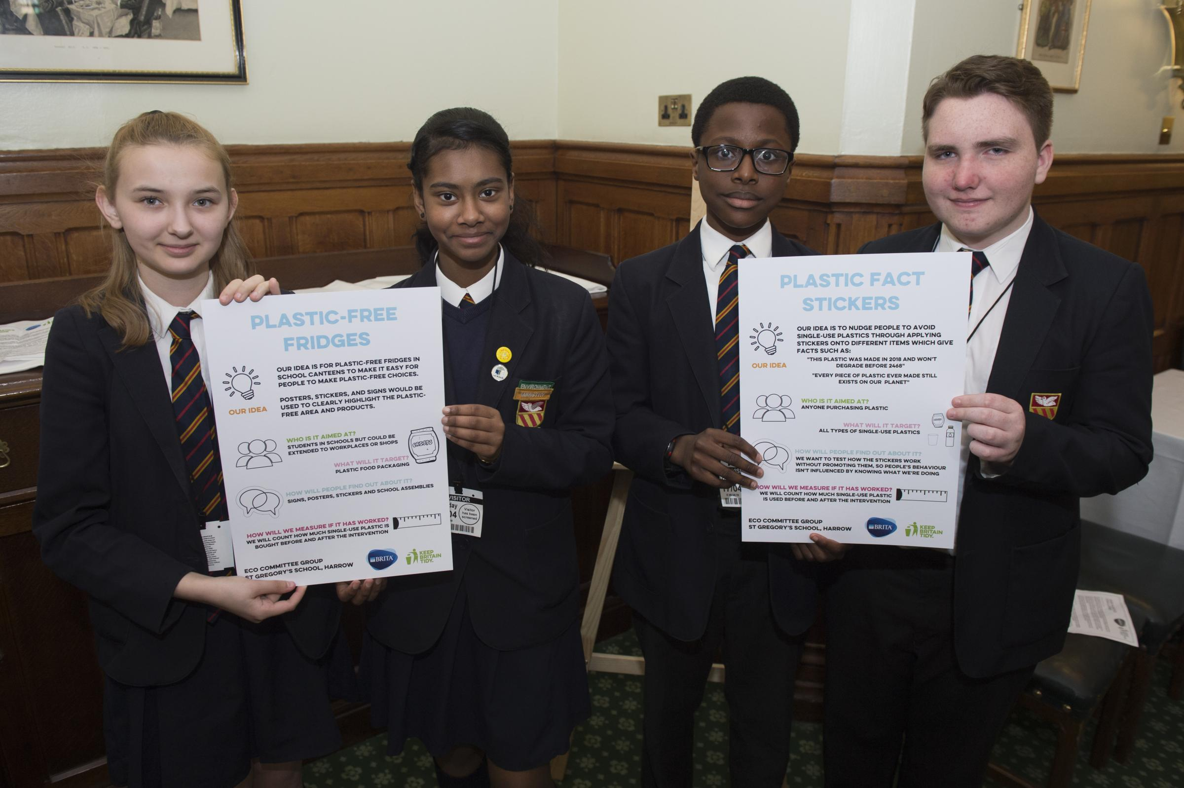 St Gregory's School work with major charities to combat single-use plastics