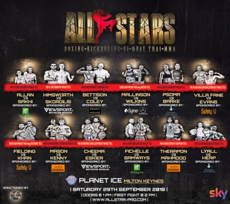 All Star Fight Night at Planet Ice in Milton Keynes, September 2018