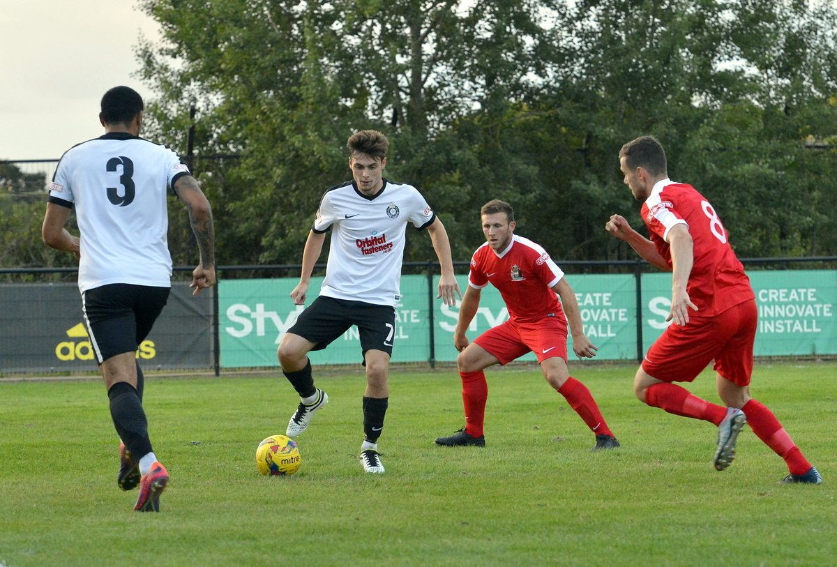Harrow Borough, pictured in action at Kings Langley, threw away a winning position. Picture: Len Kerswill