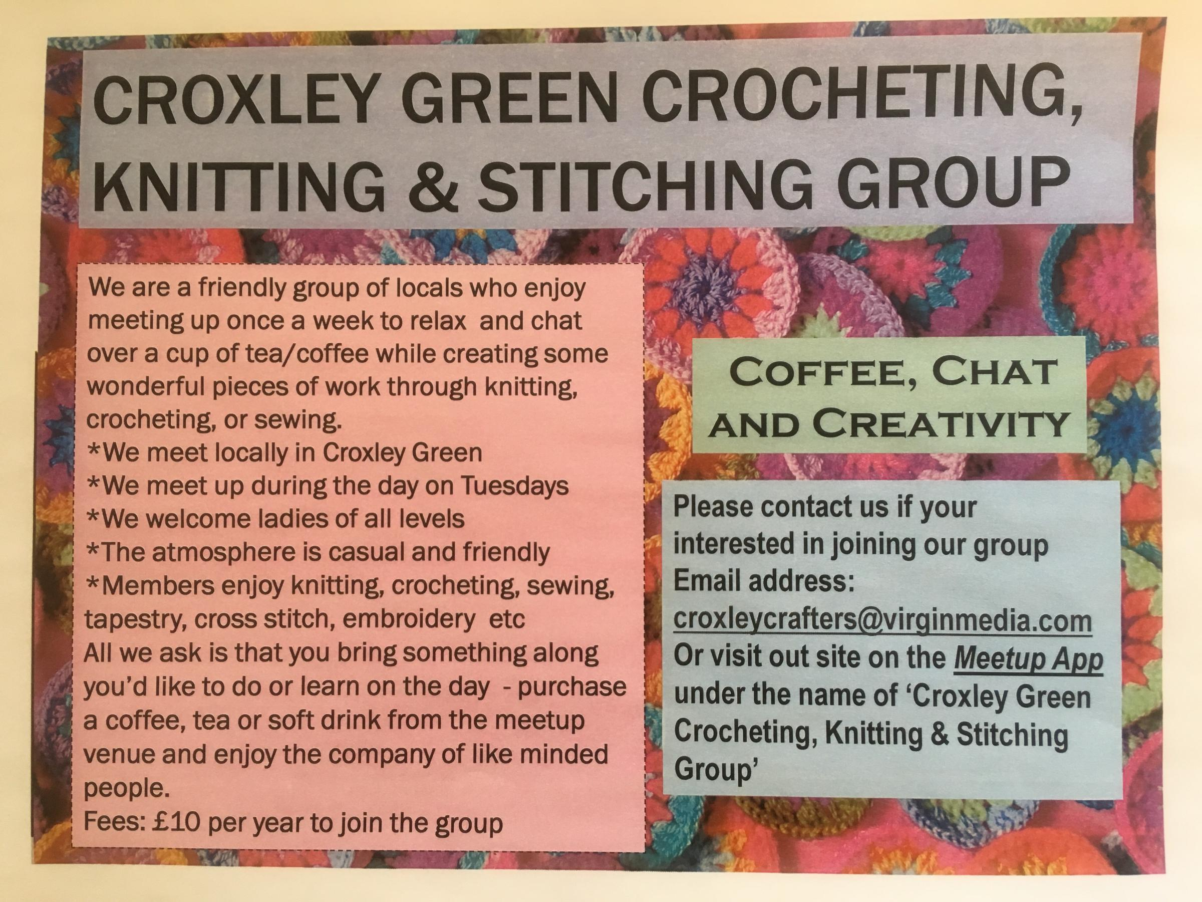 Croxley Green Crocheting Knitting & Stitching Group
