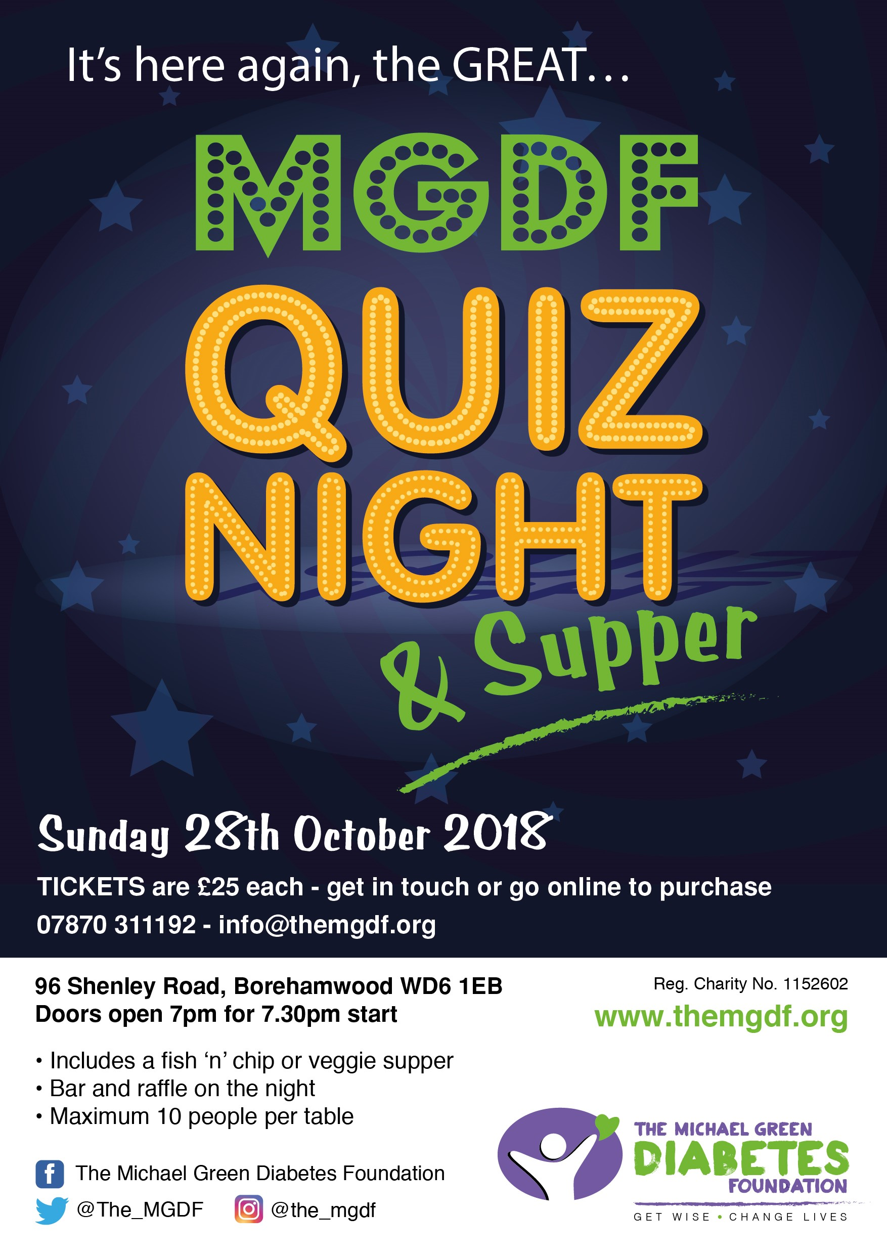 The Michael Green Diabetes Foundation Quiz Evening