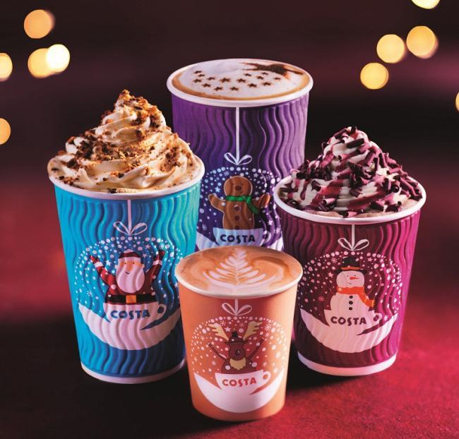 Costa Coffee's new menu looks very festive