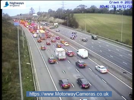 Lane closures on M25 and accident elsewhere