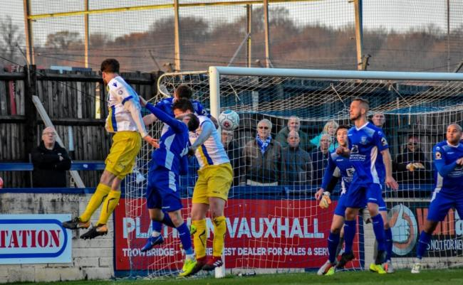Stones have an effort on goal in Saturday's defeat. Picture: Dan Finill/DFinill Photography