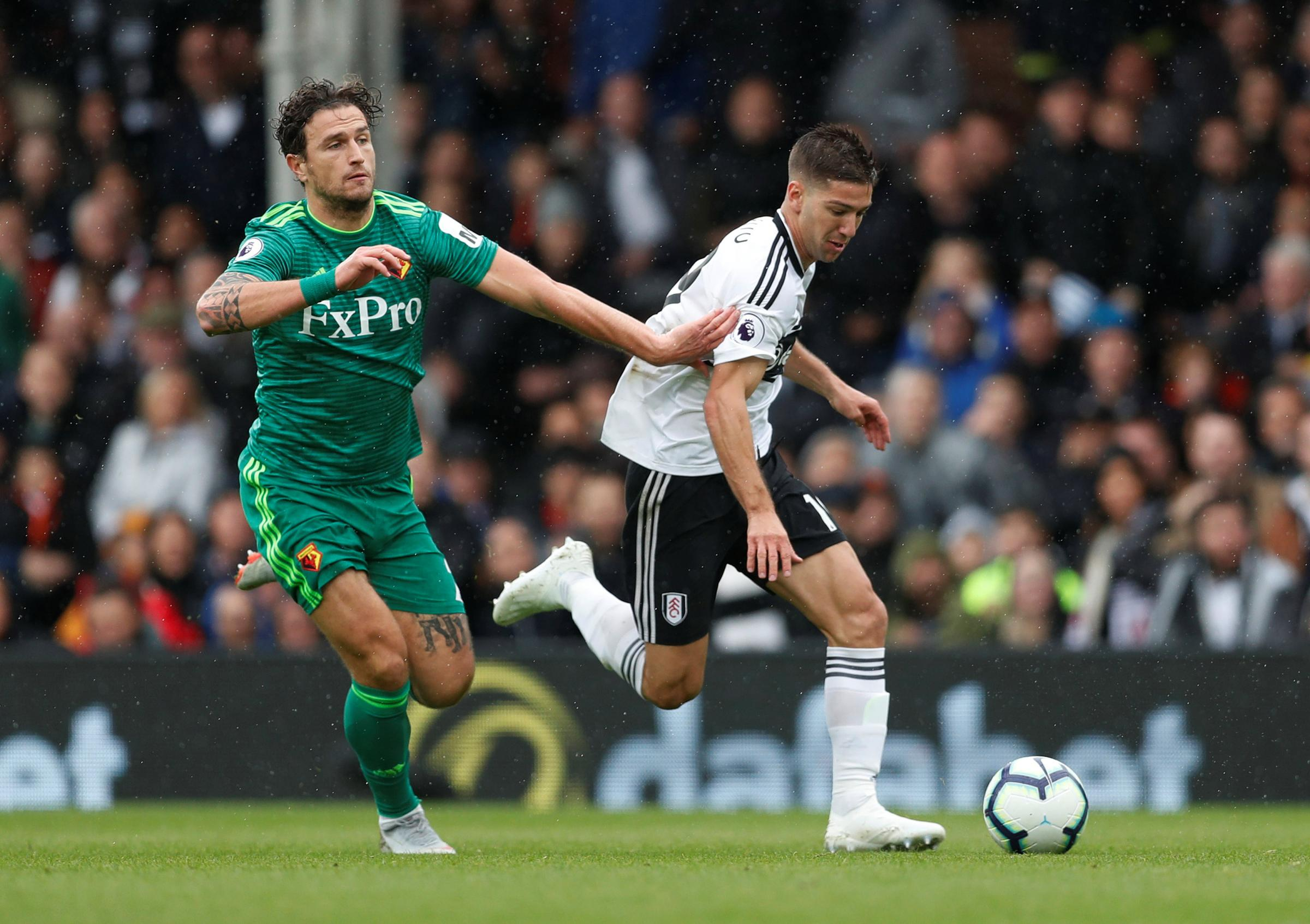 Janmaat last featured for Watford at Fulham. Picture: Action Images