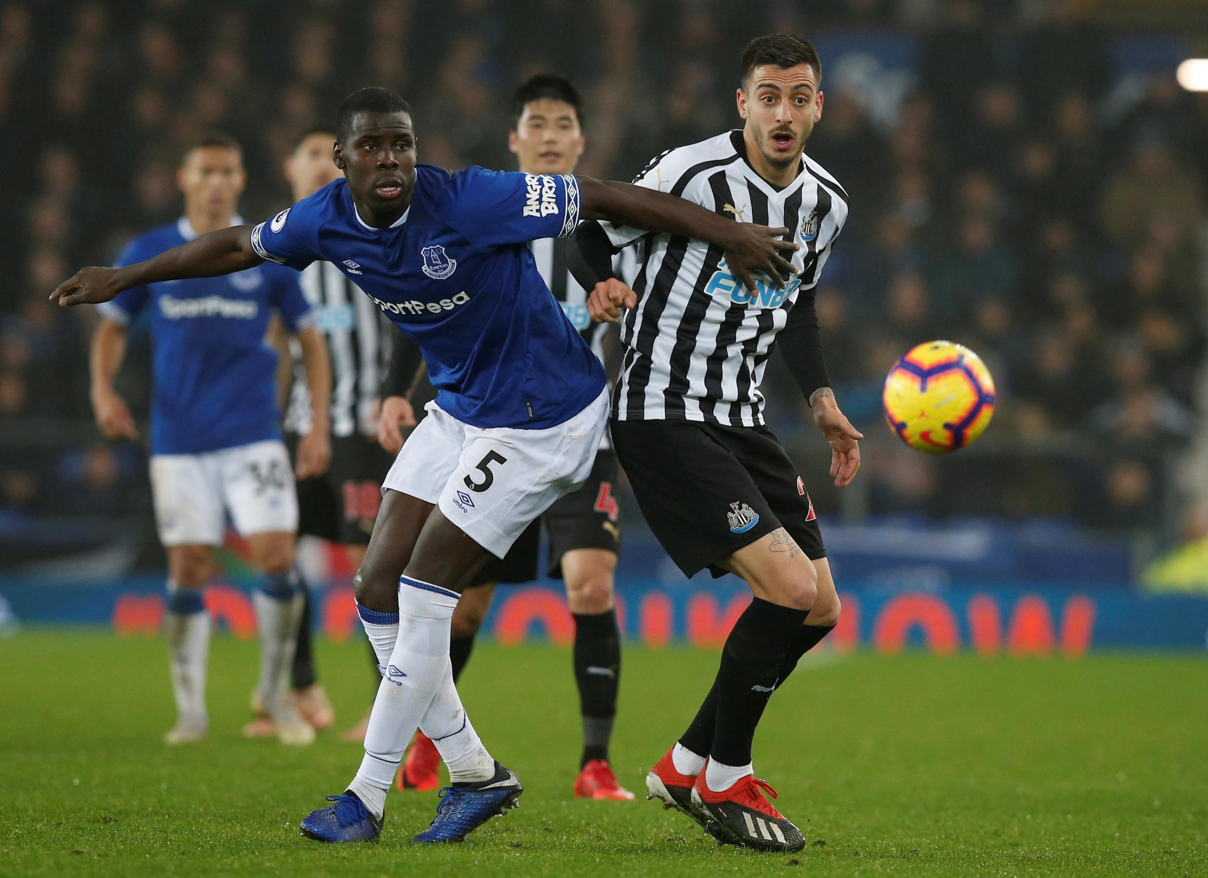 Kurt Zouma in action against Newcastle United on Wednesday. Picture: Action Images