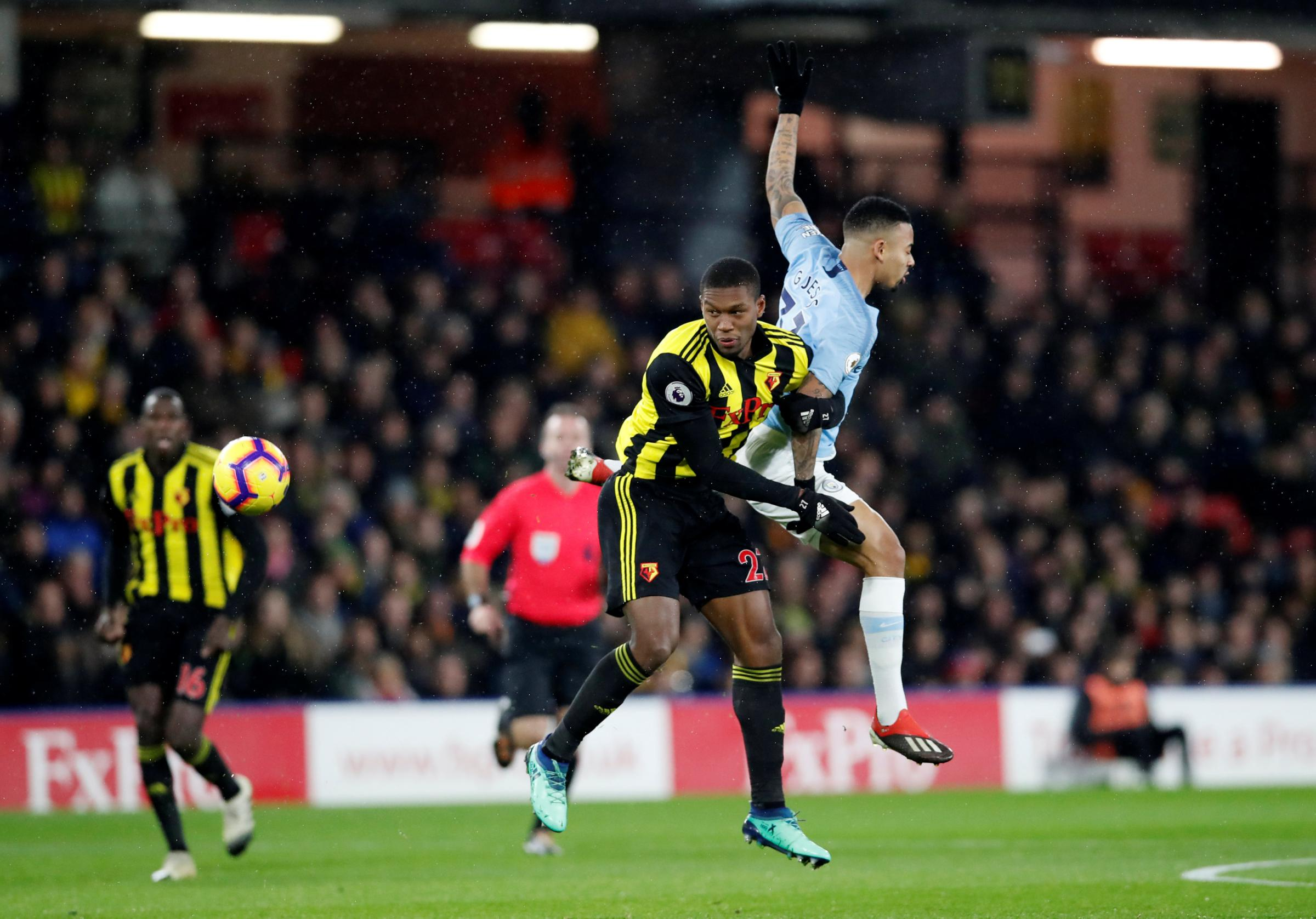 Christian Kabasele in action against Man City. Picture: Action Images
