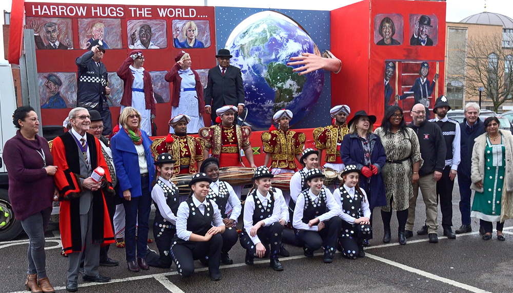 Harrow prepares for the 2019 New Year's Day parade (Image: Husain Akhtar)