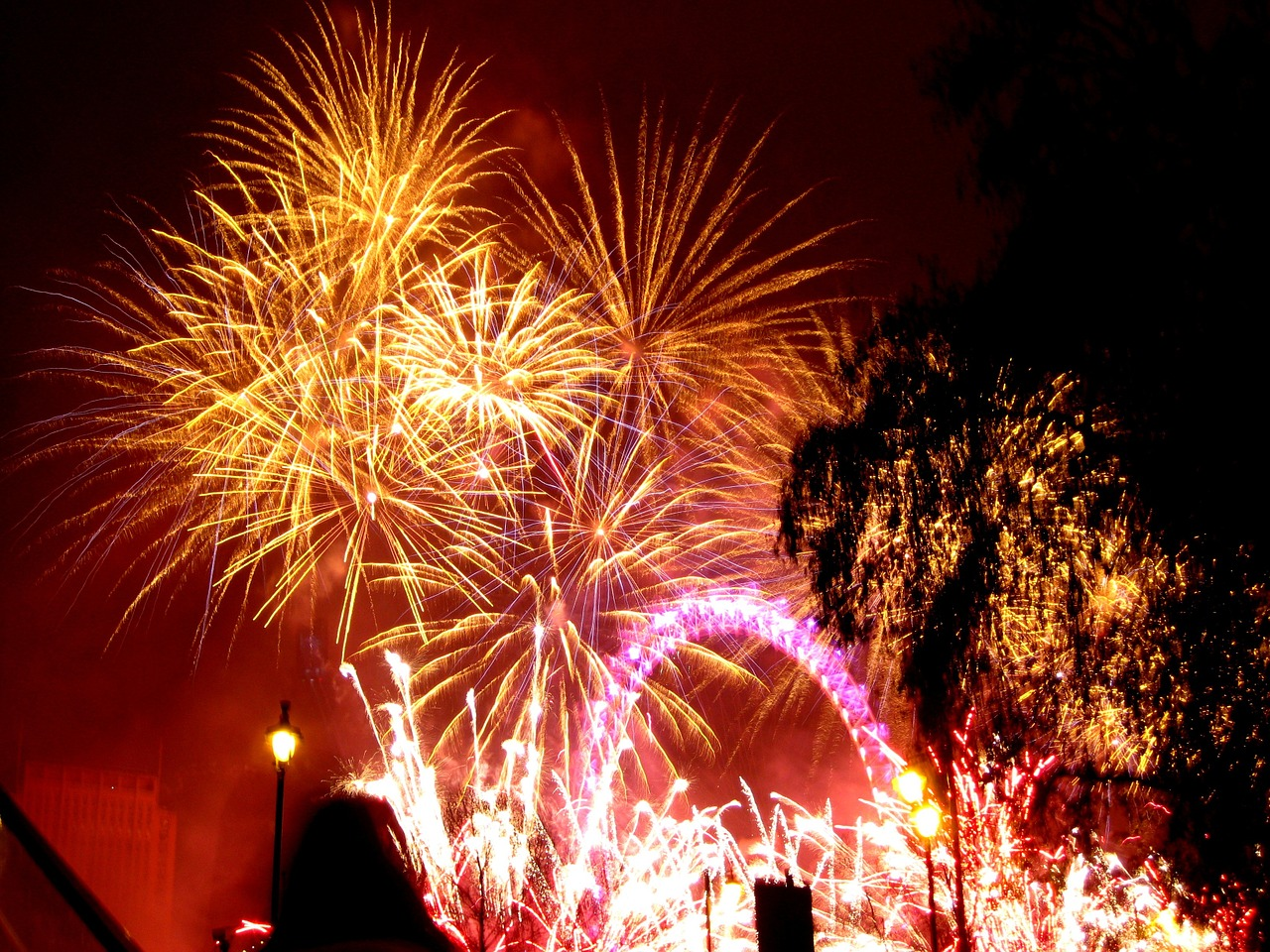 The fireworks will take place over the London Eye
