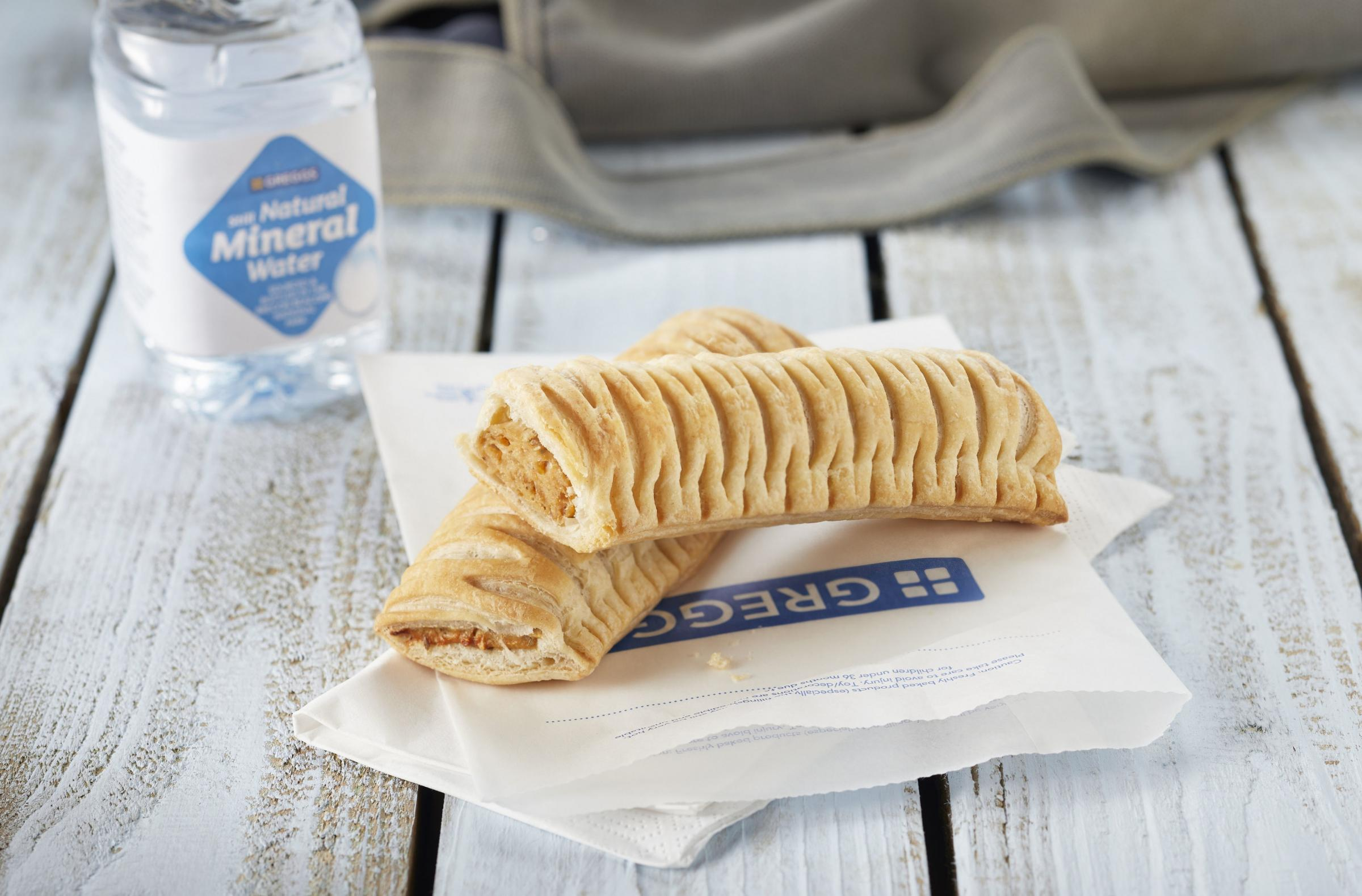 The vegan friendly sausage roll is in shops today. Credit: Greggs/PA