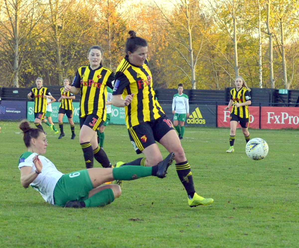 Captain Helen Ward was in fine finishing form with four goals. Picture: Len Kerswill