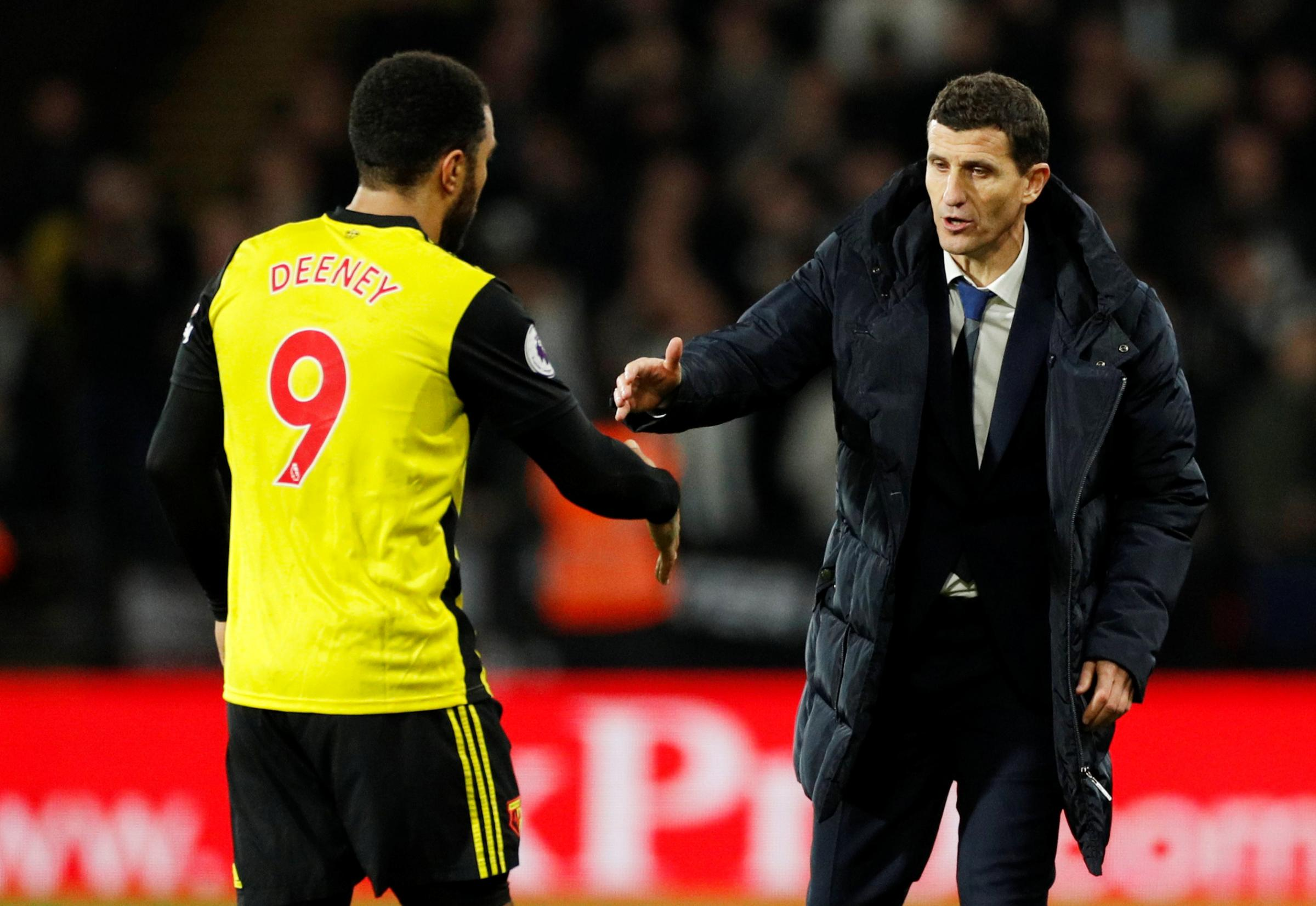 Javi Gracia says Troy Deeney is a good person. Picture: Action Images
