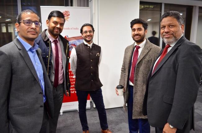 Cllr Ajay Maru (right) at the Labour Friends of India relaunch