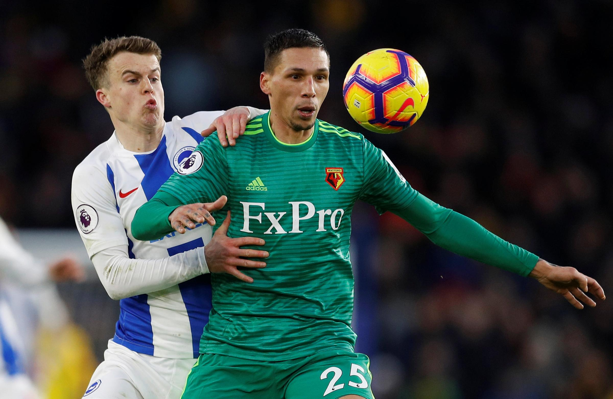 Jose Holebas will miss the next two Premier League games through suspension. Picture: Action Images
