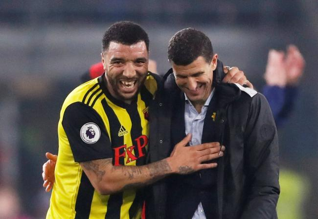 A future successor? Javi Gracia believes Troy Deeney is one of the Hornets players who could have a career in coaching. Picture: Action Images