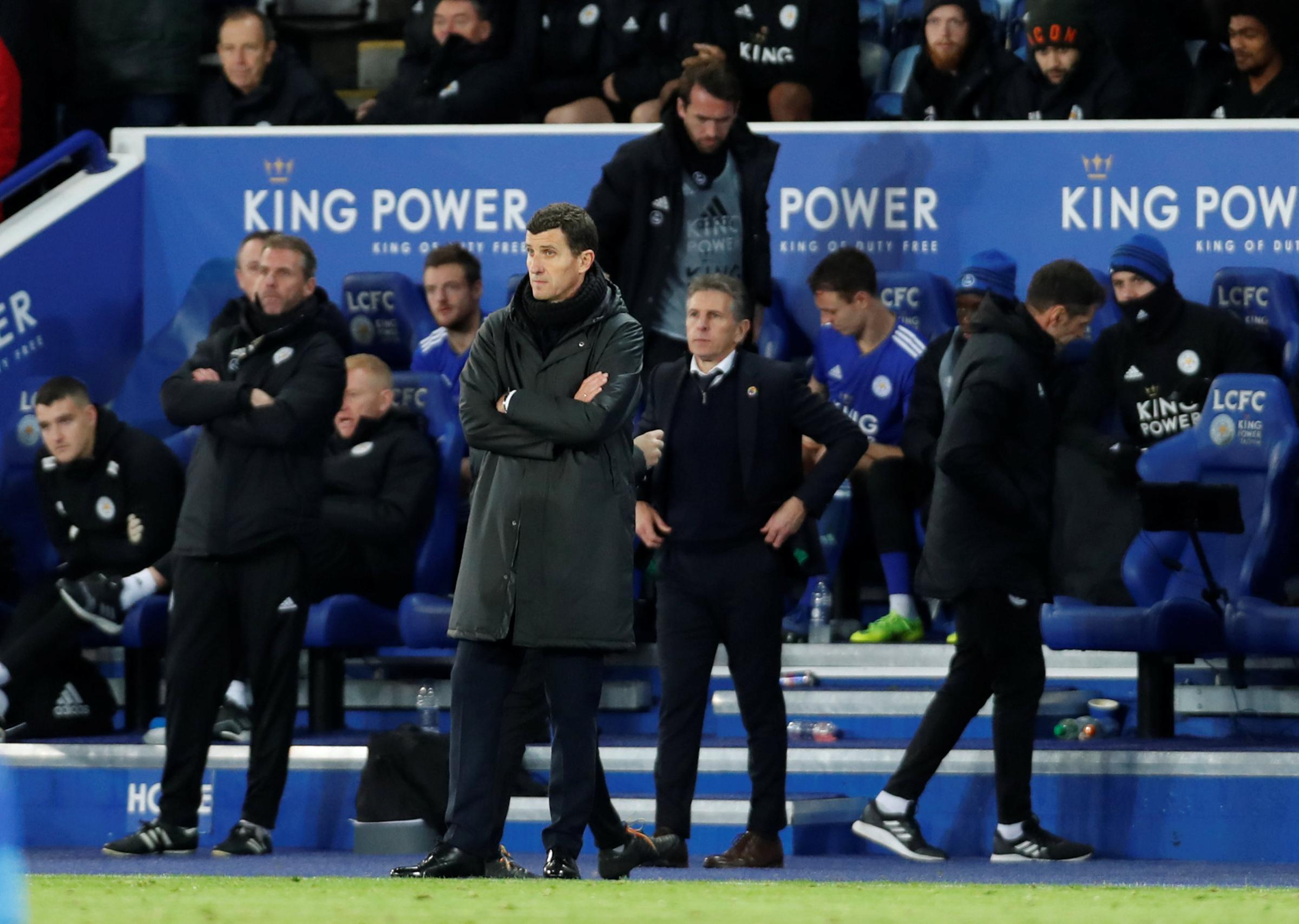Javi Gracia at the King Power stadium. Picture: Action Images