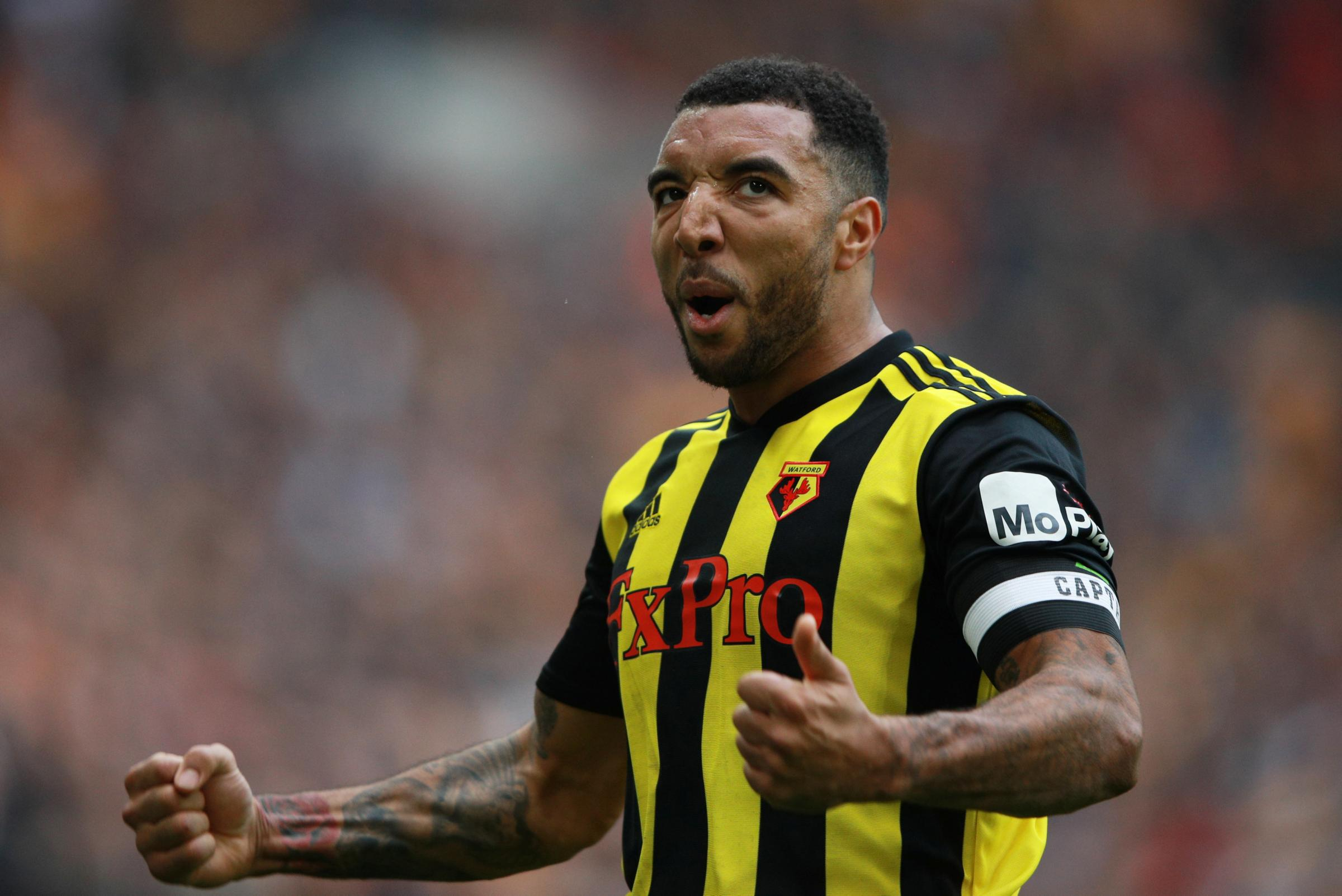 Troy Deeney celebrates Watford's FA Cup victory. Picture: Action Images