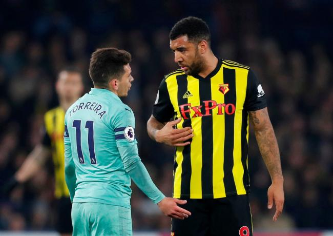Troy Deeney will be suspended for Watford's next three games. Picture: Action Images