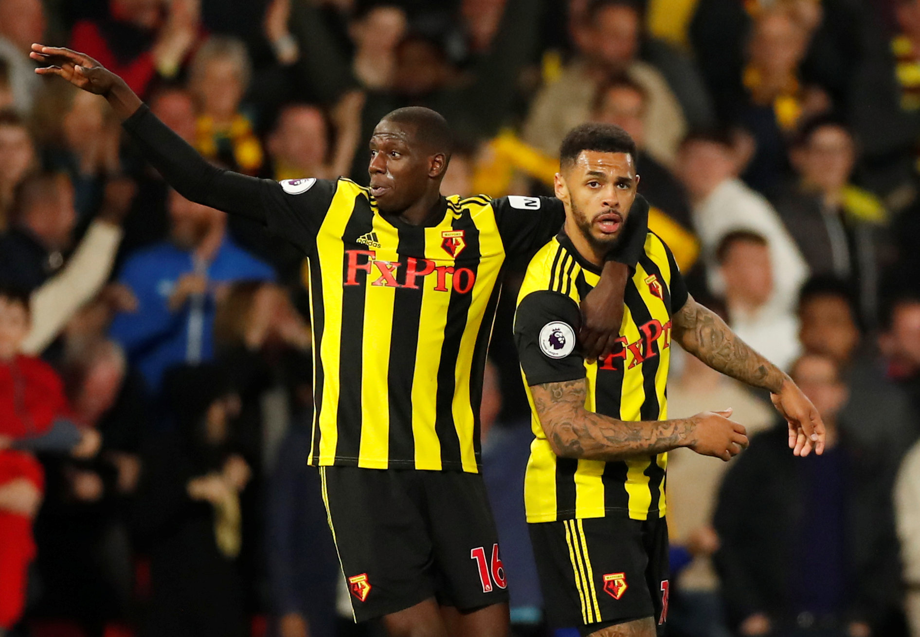 Andre Gray scored late on against Southampton to salvage a point for Watford in their Premier League encounter. Picture: Action Images