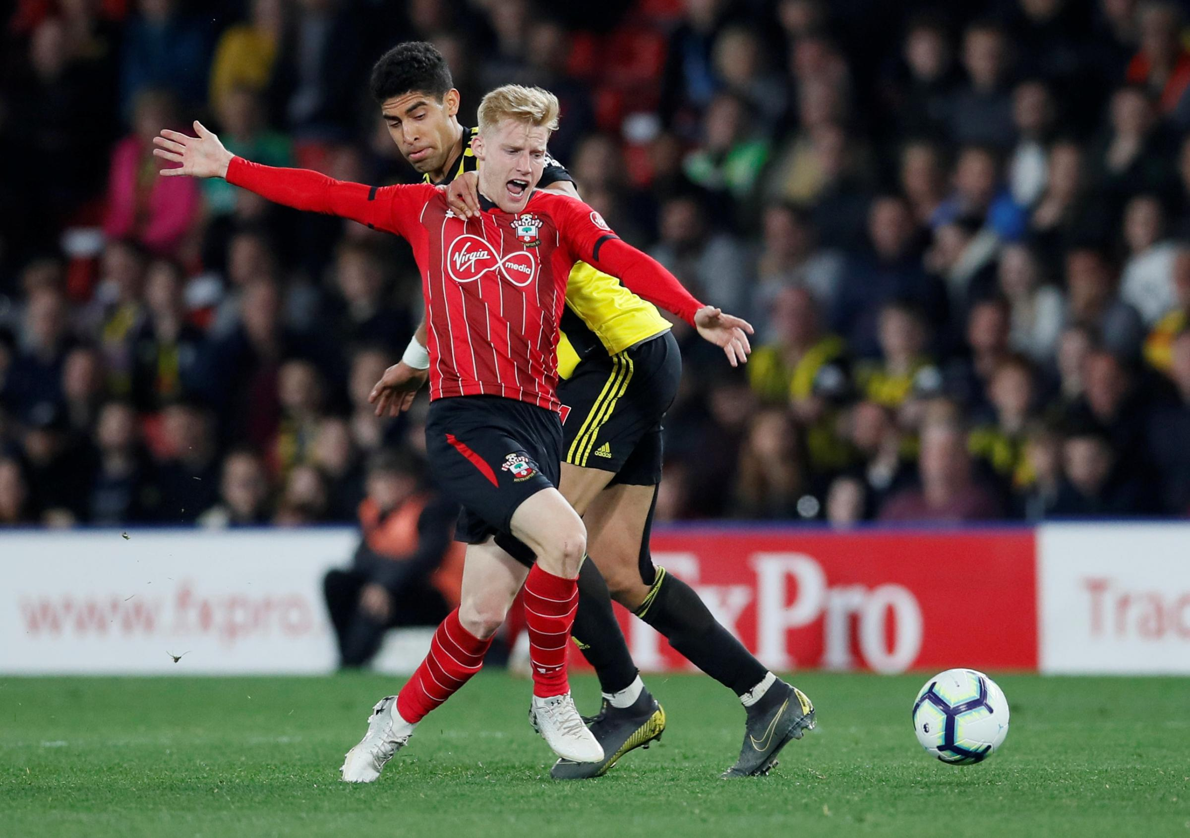 Adam Masina made his 13th Premier League appearance for Watford in the draw against Southampton. Picture: Action Images