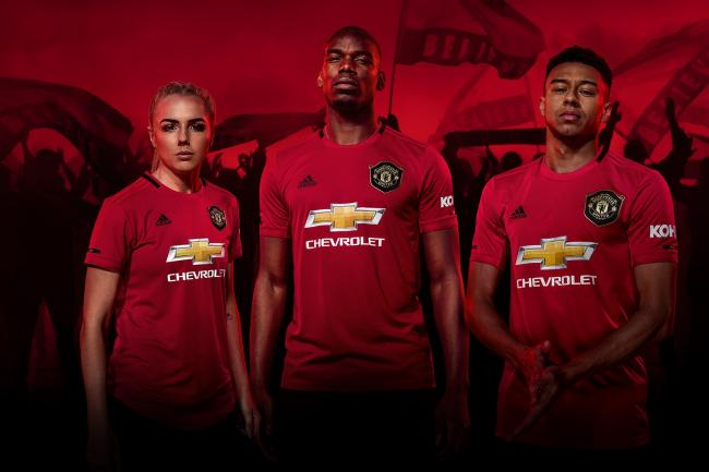 The new home kit pays homage to the 1998/99 season (Man Utd/Adidas/PA)