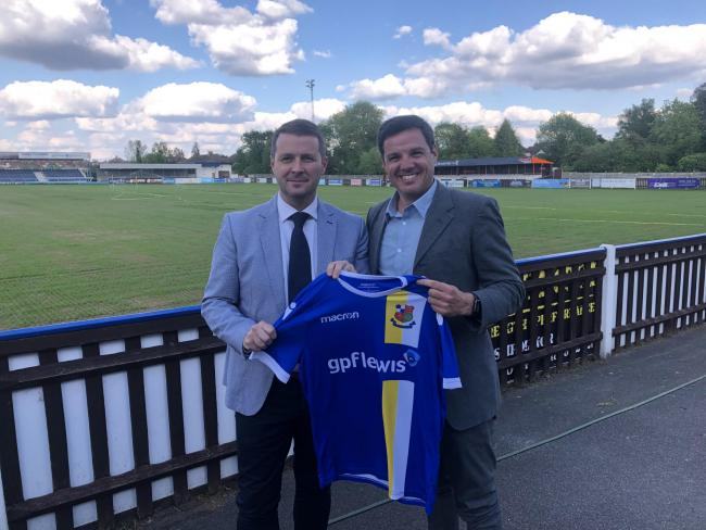Welcome to the Vale: Dean Brennan and Stones chairman Rory Fitzgerald.