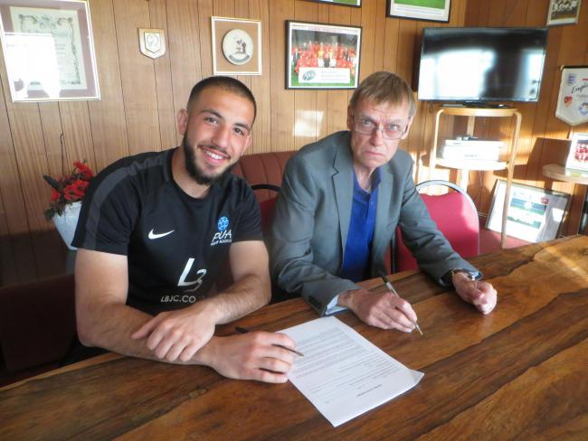 Hafed Al-Droubi is among those to sign new deals at Harrow Borough. Picture: Simon Grigor