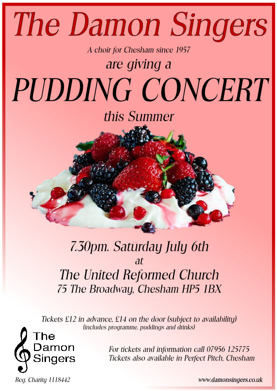 Damon Singers' Pudding Concert