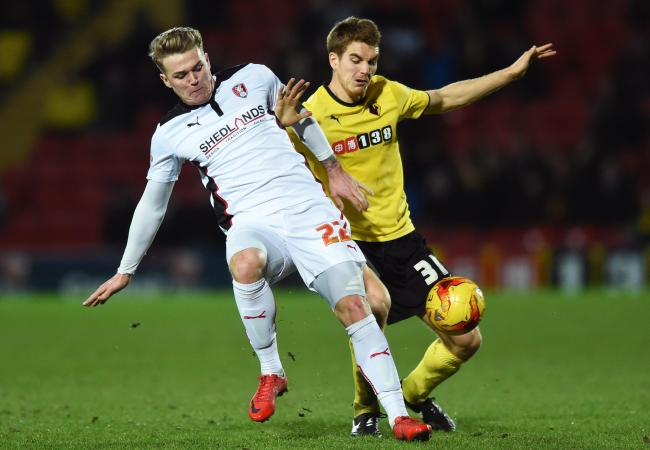 Tommie Hoban's departure from Vicarage Road was confirmed yesterday. Picture: Action Images