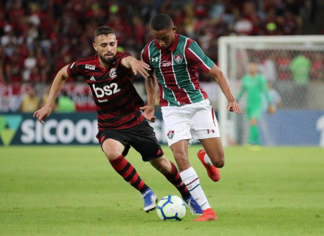 Joao Pedro playing for Fluminense against Flamengo. Picture: Action Images