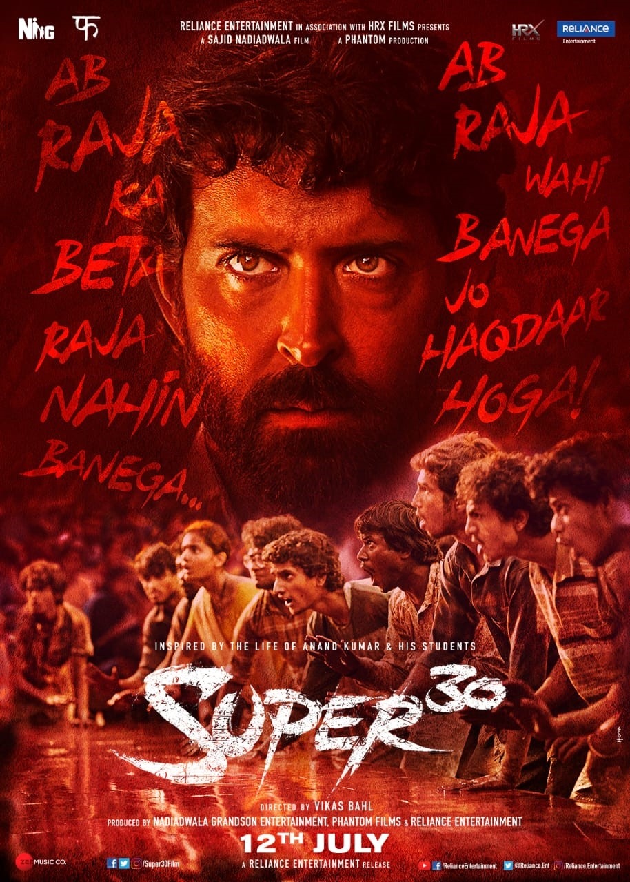 Hrithik Roshan's SUPER 30 is Bringing on Screen the Untold Story of Indian Maths Wizard Anand Kumar.